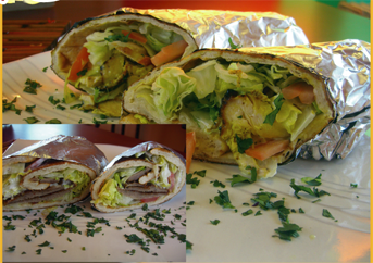 Lunch Special 4 - Kabob Wrap - ONLY Monday to Friday